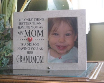 Grandmom Gift (SELECT ANY GRANDMOTHER Name), Grandmom  Frame, Grandmom Picture Frame, Grandmom  Photo Frame. 4x6 photo, Heart