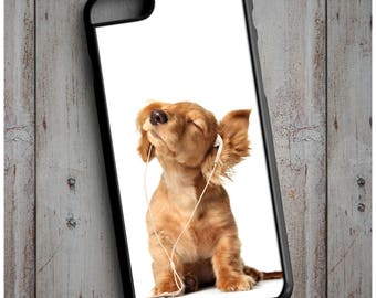 Cute Dog Listening to Music - Cool New Case Cover for any iPhone