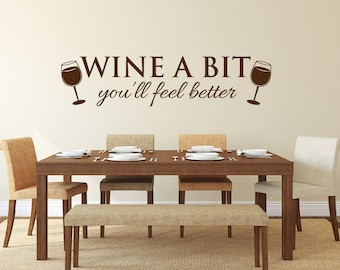 More colors & Wine wall decals | Etsy