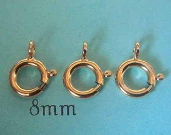 Gold Filled Clasp 14k Gold Filled Spring Ring Clasp 10 Pcs- 8mm