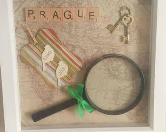 Travelling gift frame