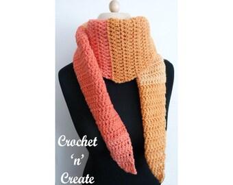 Crochet Beginners Scarf Crochet Pattern (DOWNLOAD) CNC122