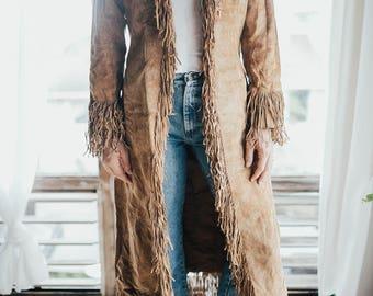 Real Leather Long Fringe Jacket