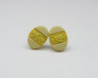 hs-Yellow Easter Egg Stud Earrings