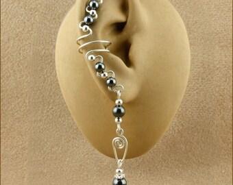 Sterling Silver Gemstone Ear Cuffs - Ear Cuff Earrings - Available in 10 Gemstone Colors - Silver Ear Cuff - Gemstone Ear Cuff - Non Pierced