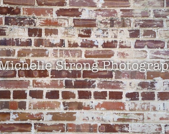 Digital Background, Brick Wall Backdrop, Photography Prop, Red Brick Wall, Scrapbooking, Craft Projects, Textured Background, Stock Image