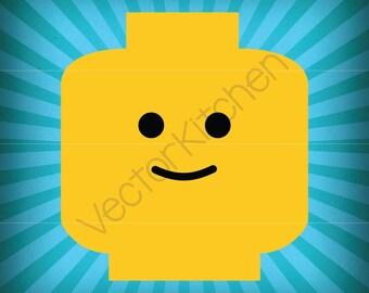 lego minifigure head template - lego head svg etsy