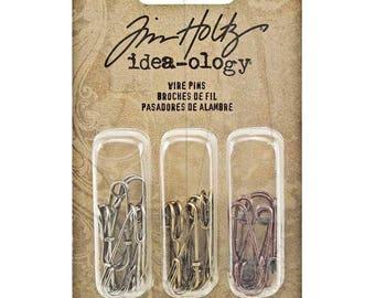 Tim Holtz Idea-ology WIRE PINS metal embellishments - EM032