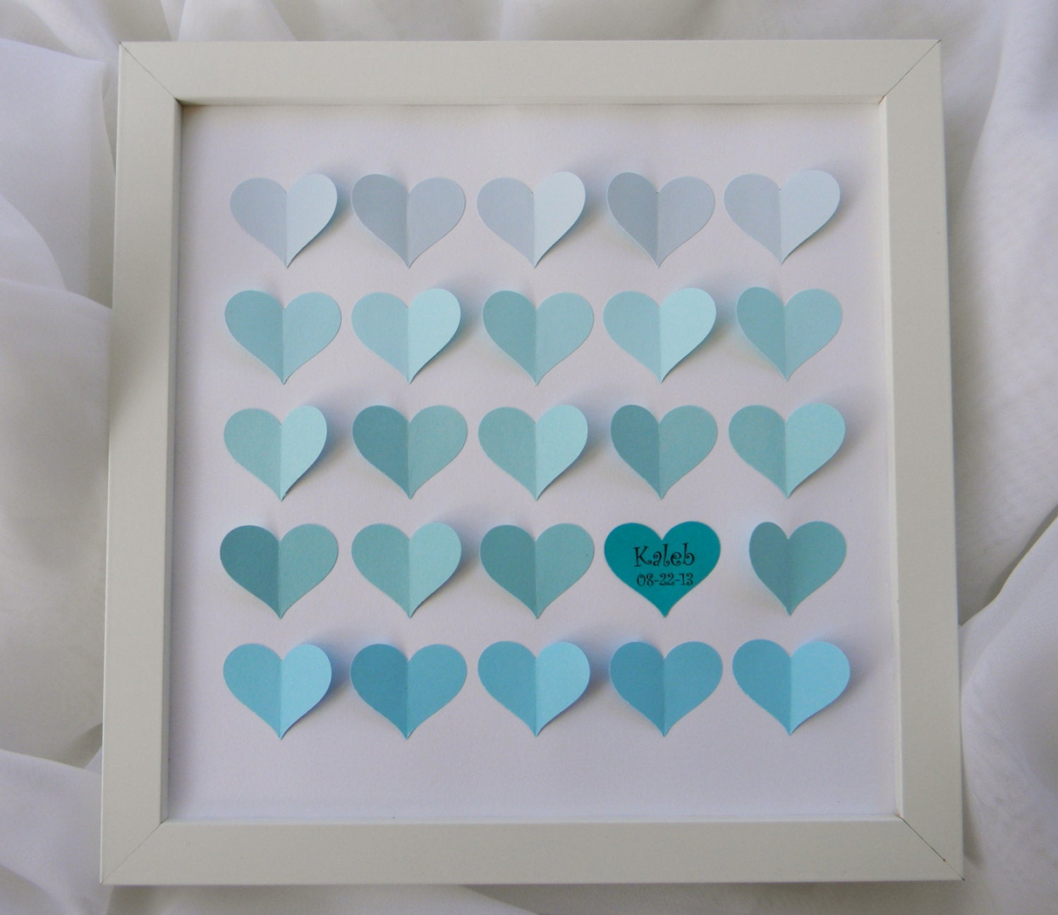 Baby shower guest book alternative ombre baby shower gift zoom negle Images
