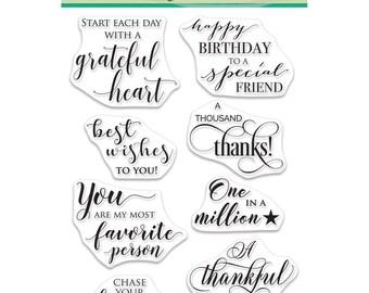 Penny Black Clear Stamp Set - Grateful Heart, Sentiments, 30-467