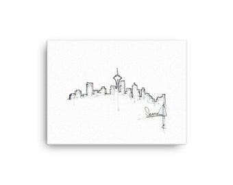 Seattle Skyline on Canvas