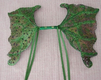 Fairy Wings-OOAK-Children and Adult -Green Forest Spirit (Made to Order)