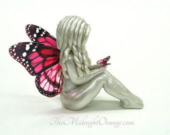 Butterfly Symbol of Comfort - sympathy gift for loss of daughter, sister, wife, friend sculpture - made to order - you choose wing colors
