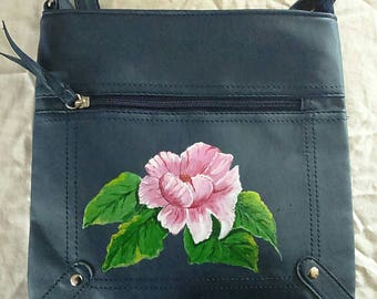 Handbag, Hand painted flower