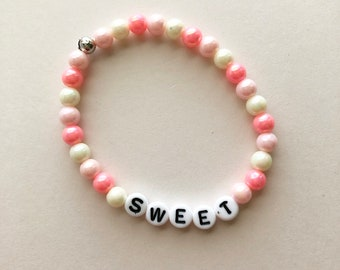 Sweet Bracelet, Fairy Kei Bracelet, Gifts For Teens, Pastel Jewelry, Rainbow Bracelet, Kawaii Bracelet, Pastel Goth, Fairy Kei Jewelry
