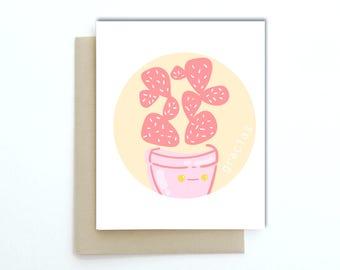 Gracias card | succulent card | plant thank you card | Thank you card