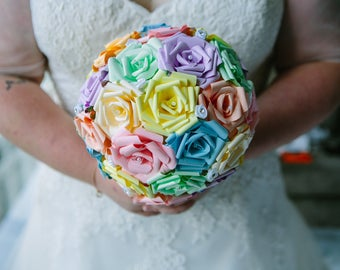 Paper rose bridal bouquet. Wedding bouquet. Bridal Posy