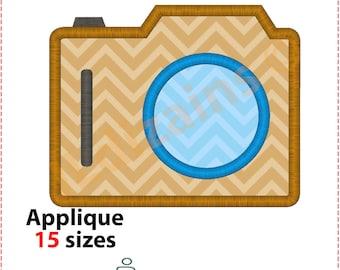 Camera Applique Design. Camera embroidery design. Photo camera applique. Photo camera embroidery. Monogram camera. Machine embroidery design