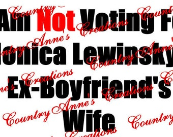 "SVG PNG DXF Eps Ai Wpc Cut file for Silhouette, Cricut, Pazzles, ScanNCut - ""Monica Lewinsky""  svg"