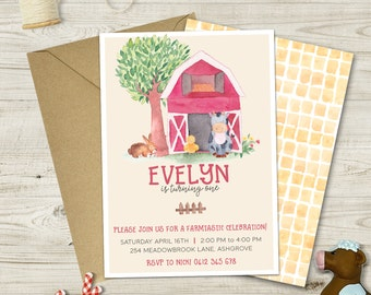 Watercolor Farm Invitation