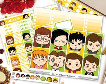 Daria Weekly Kit Planner Stickers | Weekly Kit Stickers | Daria Stickers