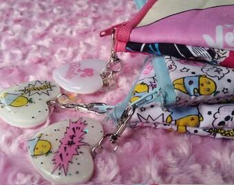 Funyassi themed Makeup Bag mini Travel electronics bag