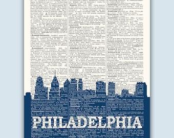 Philadelphia Skyline, Philadelphia Poster, Philadelphia Decor, Philadelphia Print, Philadelphia Gift, Philadelphia Art, Pennsylvania Art