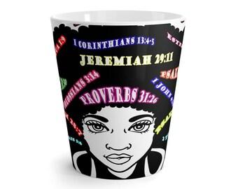 Woman Of God Latte Mug