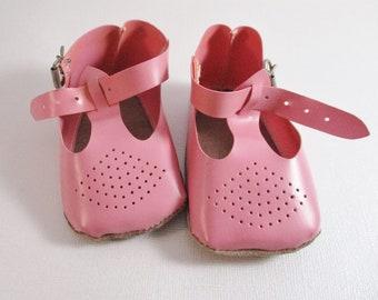 Vintage Doll Shoes, Pink, Large Size