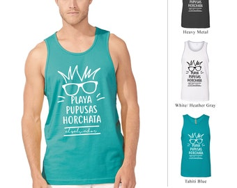 PLAYA-PUPUSAS-HORCHATA  El Salvador Top Tank Shirt