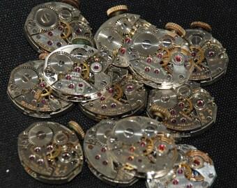 Vintage Antique Tiny Watch Movements Steampunk RT 70