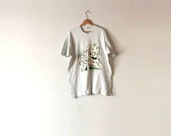 SIBERIAN TIGER TEE  // 1993 //Siberian Tiger // Tiger Shirt // Bengal Tiger // White Tiger // Tiger Shirt // Tiger T Shirt // Animal Shirt