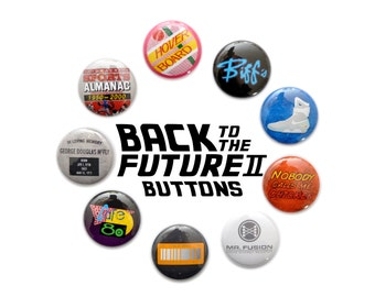 "Back to the Future II Inspired 1"" Button Set"