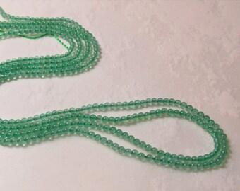 SALE Teeny Tiny Emerald Green Onyx Beads 2mm Round, Emerald Green Gemstone Beads 1 Strand