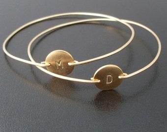 Gold Friendship Bracelet Set, 2 Best Friend Bracelets, Best Friend Gift for Birthday Friendship Jewelry Gift for Women, Best Friend Jewelry