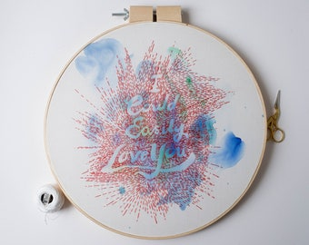 I Could Easily Love You - Embroidered Typography