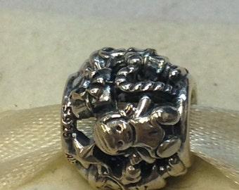 Authentic Pandora Silver Santa's Elves Charm #791401
