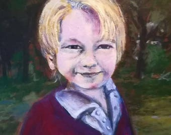 Portraits by commission painted from photo