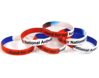 I Stand for the National Anthem Silicone Bracelet SB-1
