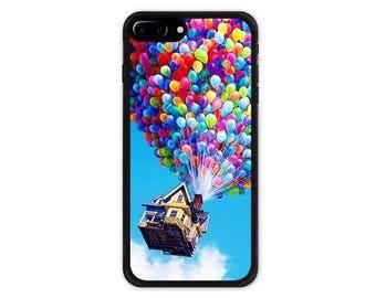 Disney Pixar's Movie UP iPhone 7 / 7 Plus Case , iPhone 8 / 8 Plus Case , iPhone X Case Balloon House