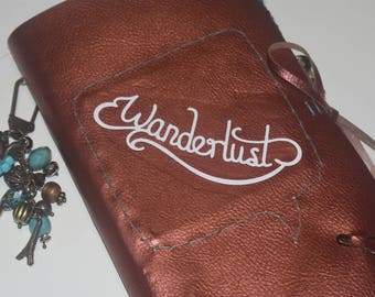 Vintage Faux Leather Travel Journal