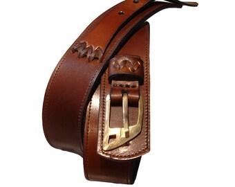 LEATHER HANDMADE BELT / Leather Belt / Belt in Handmade / Belt Handmade / Belt Accessories / Belt Men / Belt Women / Belt Brown.