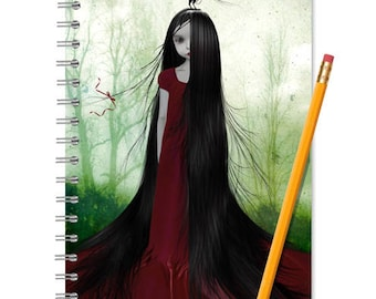 Fairytale Notebook - Rapunzel Journal - LINED OR BLANK pages, You Choose