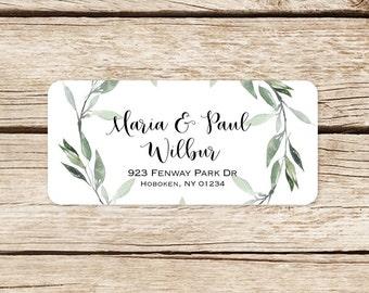 Return Address Label, Wedding Address Stickers, Invitation Stickers, Address Labels, Envelope Labels