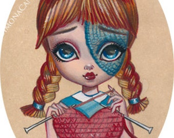 The Best Gifts Come From the Heart LIMITED EDITION only 25 print signed numbered Simona Candini lowbrow pop surreal big eyes art Valentine