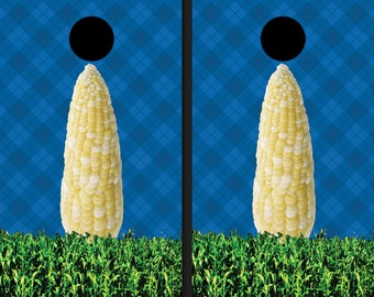 Custom Graphic Cornhole Skins Corn Field Wraps