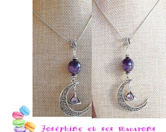 Amethyst and Silver 925 eme necklace