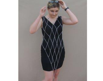 Tassle Dart Chain Dress Short
