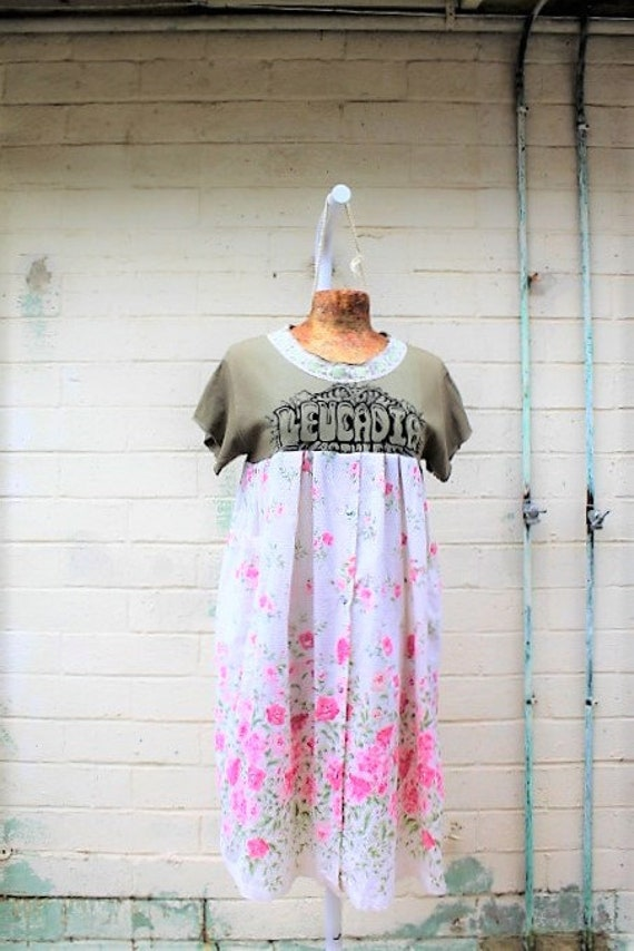 Large Leucadia Babydoll Dress/leucadia california Dress/Beach dress/Encinitas California Dress/Leucadia Farmers Market/California Surf dress