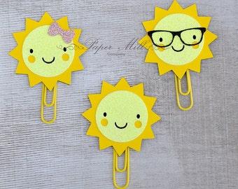 Sun Page Clip - Planner Clip - Bookmark - FiloFax - Erin Condren Day Planner - Kikki K Plum Paper Planner - LifePlanner Notebooks Journals